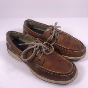 Sperry Plaid Top Sider Brown Boat Shoe